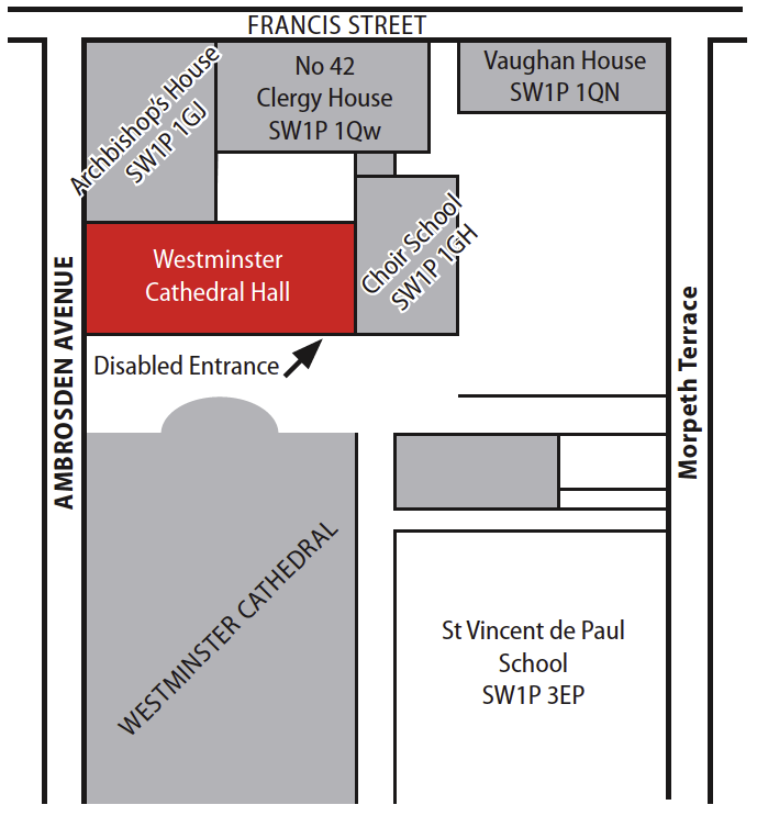 Westminster-Cathedral-Hall-Map