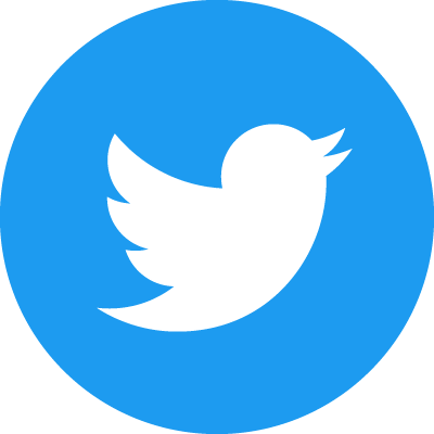 Twitter social icons - circle - blue